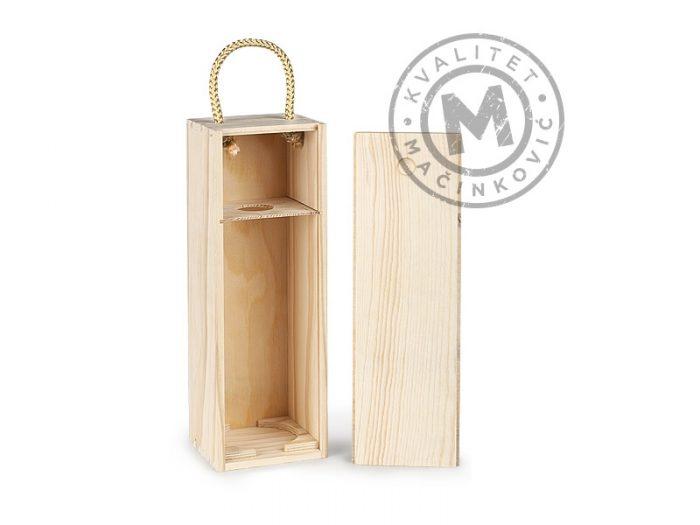 Drvena poklon kutija za flašu, Bordo