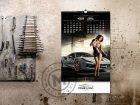 kalendar girls and cars mart-april