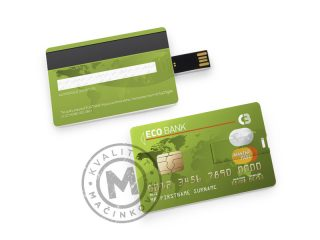 USB flash memory drive, Credit Card