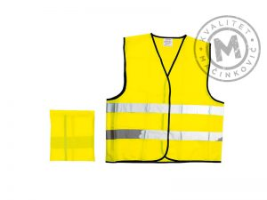 Fluorescent safety vests