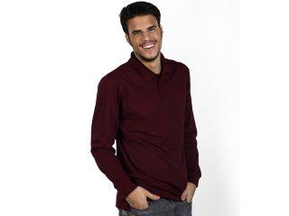 Men Long-sleeved Polo Shirt, Gator