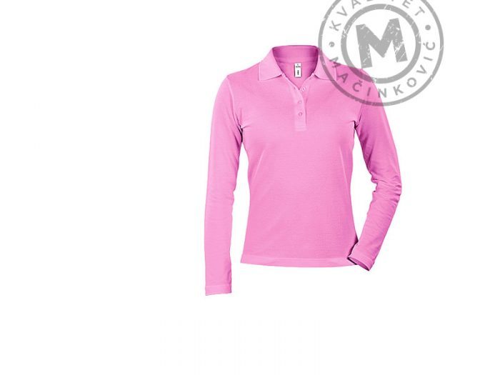 Women Long-Sleeved Polo Shirt, Linda