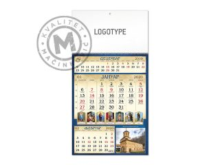 Wall Calendar, Orthodox 59