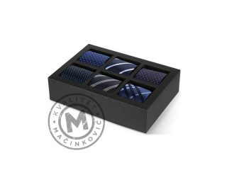 Gift Set of six Ties, Bruno Azzurro