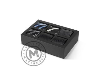 Gift Set of six Ties, Bruno Nero