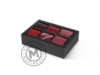 Gift Set of six Ties, Bruno Rosso