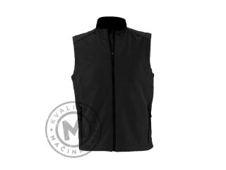 Men Softshell Vest, Shadow Men