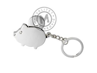Metal Key Chain in the Shape of a Pig, Chamba