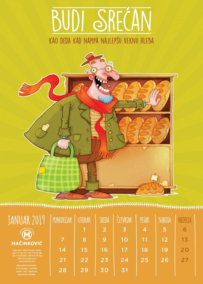 kalendar macinkovic '19 januar