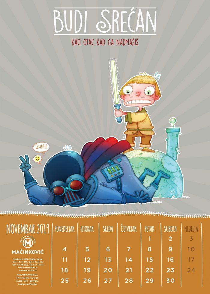 kalendar macinkovic novembar
