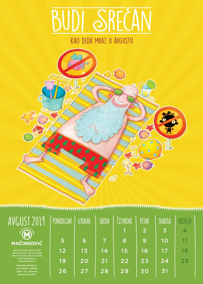 kalendar macinkovic avgust