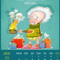 Kalendar 2020, Januar