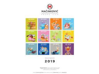 Kalendar štamparije Mačinković 2019