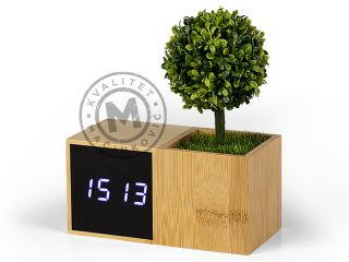LCD Desk Clock, Evergreen