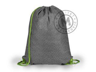 Biodegradable drawstring bag with adjustable drawstrings, Metro