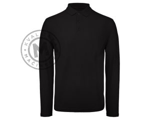 Men's long sleeve single jersey polo shirt, Uno LSL
