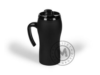 Metal travel mug with soft touch finish, Marry