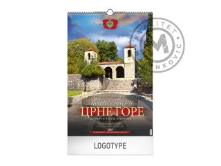 Wall Calendar, Orthodox Monasteries of Montenegro