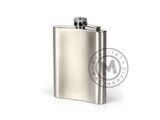 Metal flask in a gift box, Rum