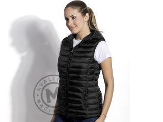 Women's hooded vest, Jet Women