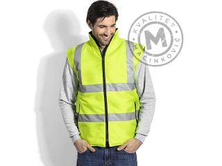 Unisex reversible hi viz safety vest, Safety Duo