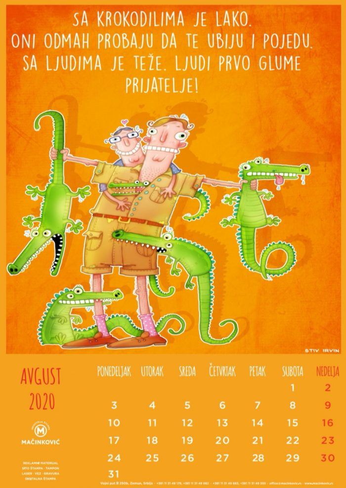 kalendar 2020 avgust