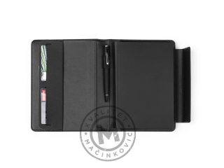 Portfolio case with A5 notebook, Alcantara
