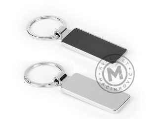 Metalni privezak za ključeve presvučen eko kožom, Megane