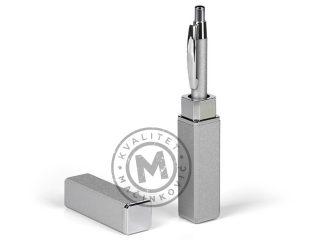 Metal ball pen in metal gift tube, Marble
