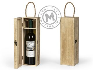 Wooden single bottle gift box, Muscat