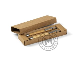 Wooden mechanical pencil and ball pen set, Palma