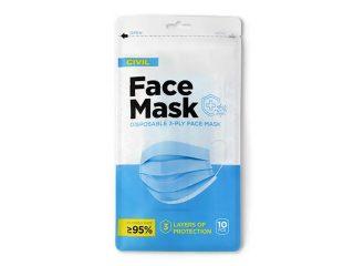 Disposable face mask, DFM 10