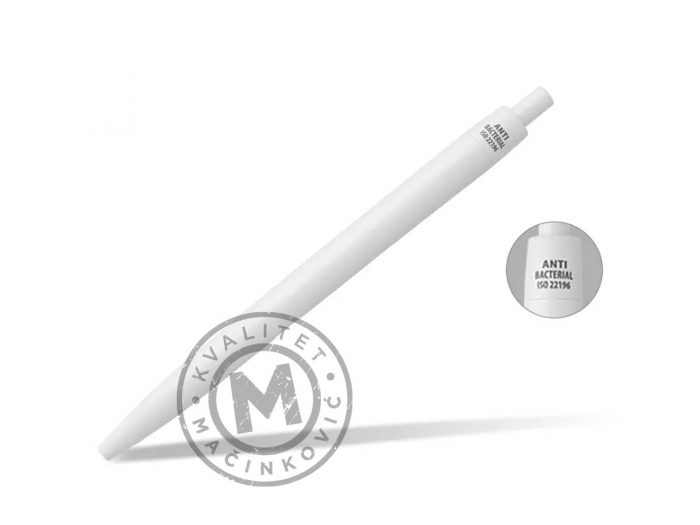 antibacterial-plastic-ball-pen-white