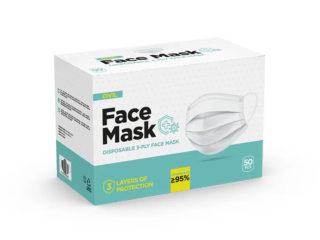 Disposable face mask, DFM Single Pack
