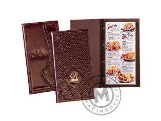 Elagant leather menu, 936