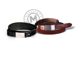 Elegant men's leather belt, 251