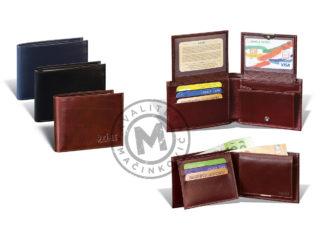 Elegant men's leather wallet, 325