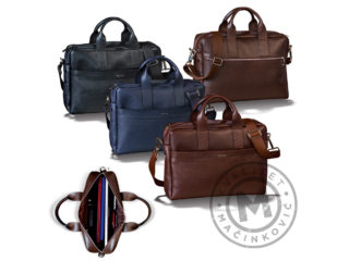 Leather business bag, 409