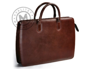 Leather business bag for lap top and documents, 428