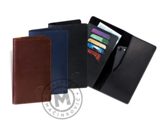 Leather case for mobile phone – wallet, 392