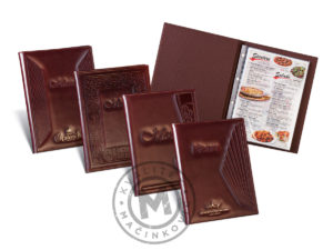 Leather menus