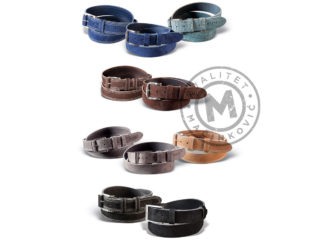 Men's brushed leather belt, 255