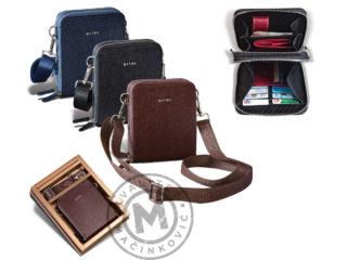 Men's leather shoulder bag, 1206