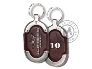 Hotel leather keychain, 900