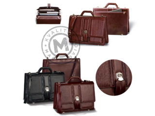 Leather business bag, 407