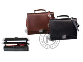 Leather business bag, 425