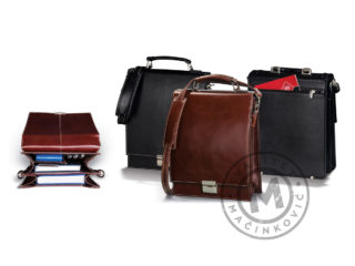 Leather business bag, 426
