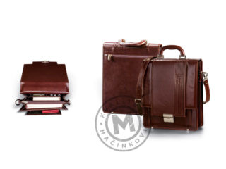 Leather business bag, 427