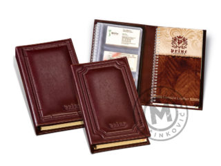 Leather business card book, 934
