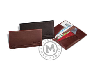 Leather cover for airplane ticket, 375